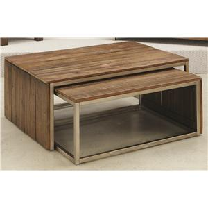 Hammary Flashback Rectangular Nesting Cocktail Table