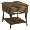 Morris Home Groovy Rectangular Drawer End Table - Item Number: 579-915