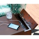Hammary Chairsides Driftwood Bowfront Chairside Table with USB Power Bar