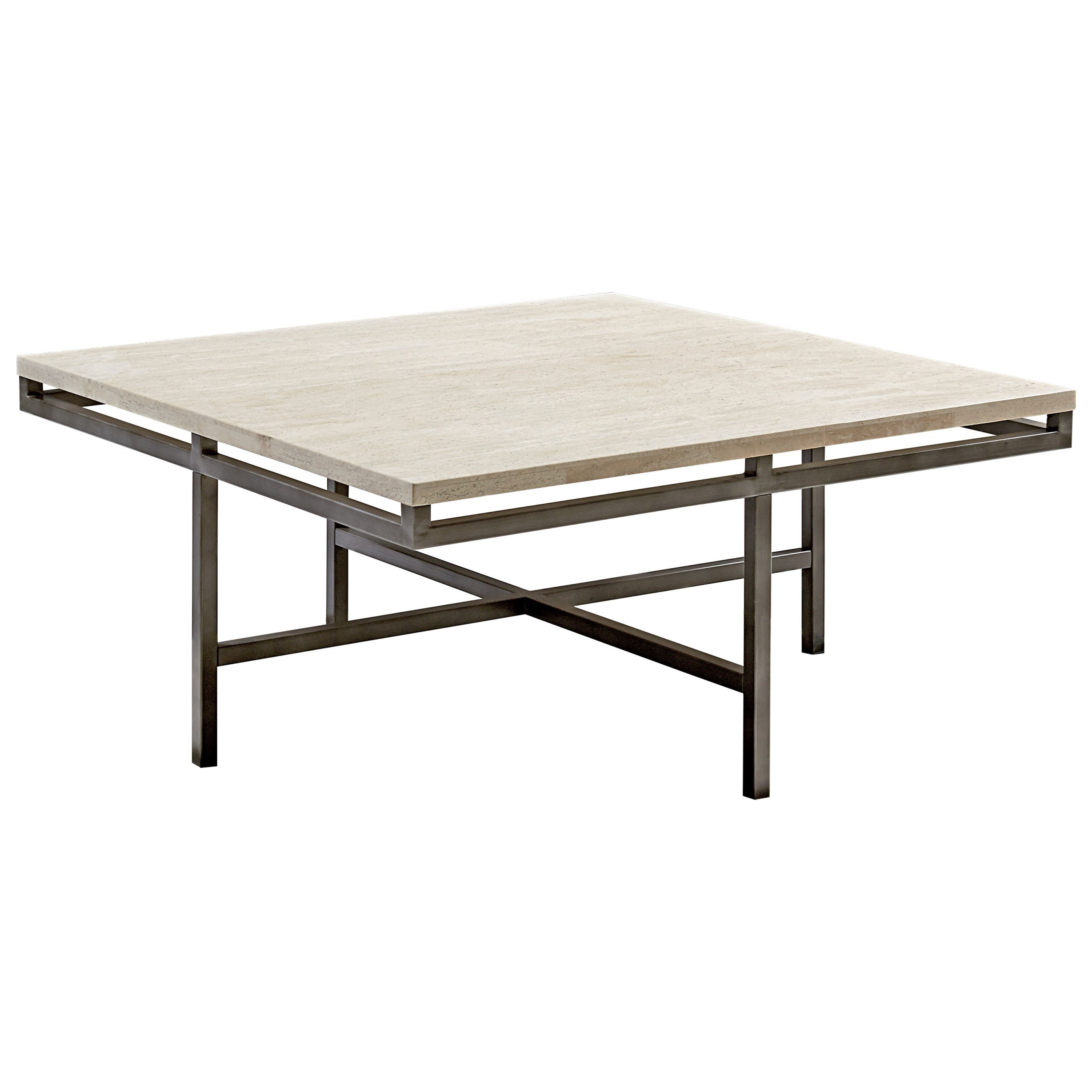 Hammary East Park Square Cocktail Table With Faux Marble