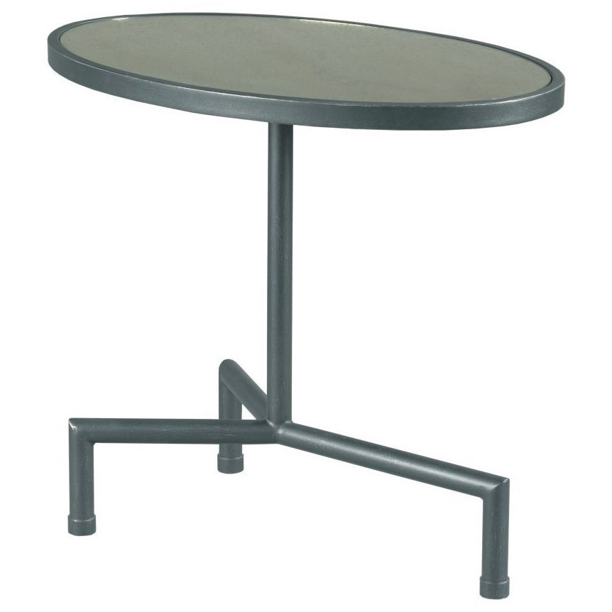 Hidden Treasures Oval Chairside Table by Hammary at Stoney Creek Furniture