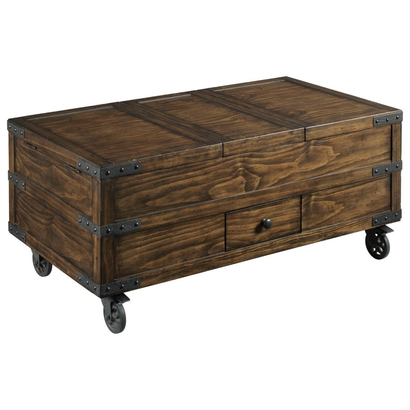 Hidden Treasures Trunk Coffee Table by Hammary at Johnny Janosik
