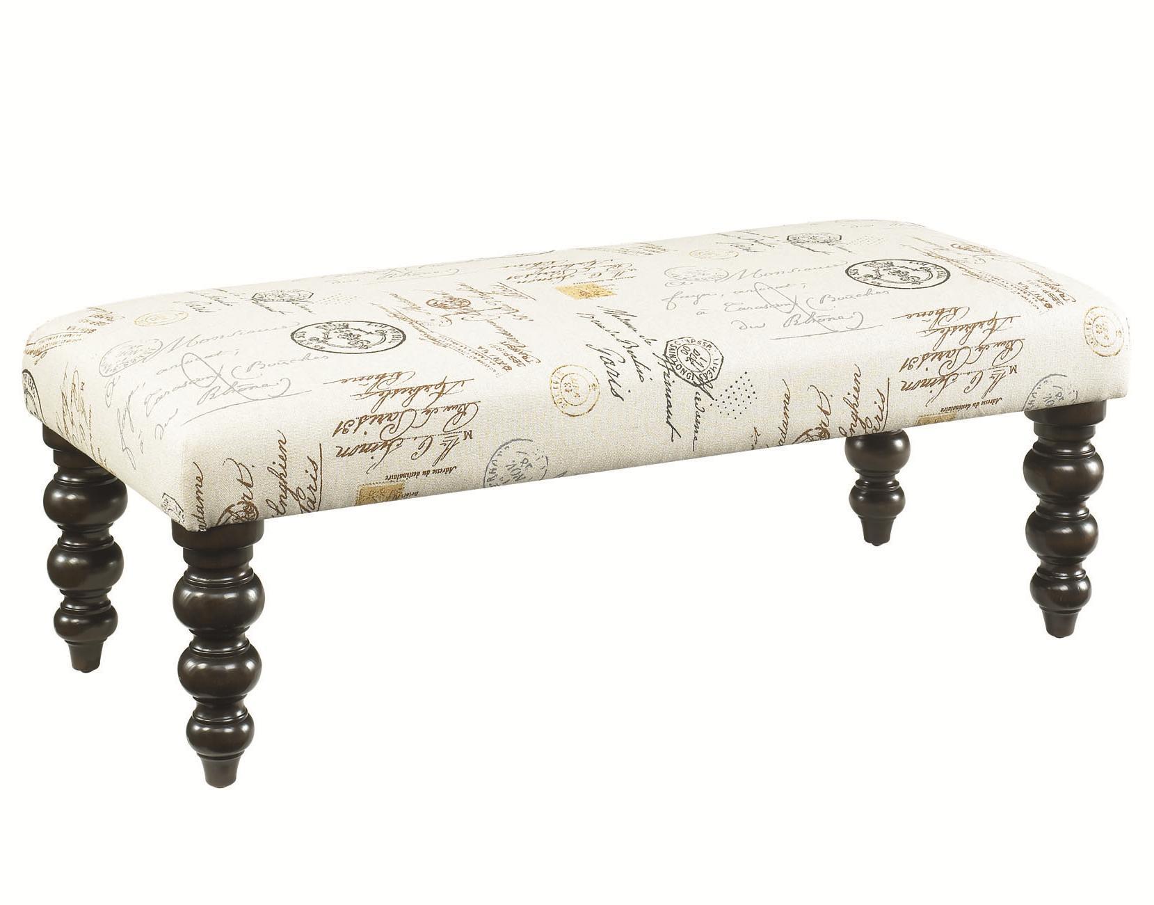 Hammary Hidden Treasures Linen Bench - Item Number: 090-304