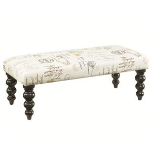 Morris Home Furnishings Hidden Treasures Linen Bench