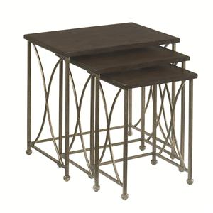 Morris Home Furnishings Hidden Treasures Rustic Nesting Tables