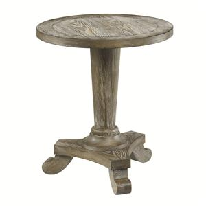 Morris Home Furnishings Hidden Treasures Round Pedestal Table