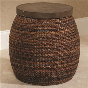 Morris Home Furnishings Hidden Treasures Round Accent Basket Table
