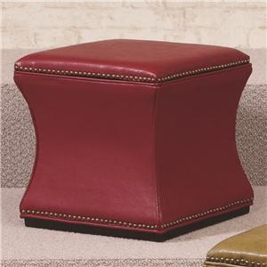 Morris Home Furnishings Hidden Treasures Red Storage Cube