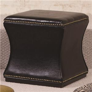Morris Home Furnishings Hidden Treasures Black Storage Cube