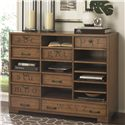 Hammary Hidden Treasures Printers Cabinet with Interchangeable Drawers