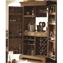Morris Home Furnishings Hidden Treasures Drinks Cabinet with Wine Bottle Storage - Shown with Doors Open