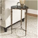 Morris Home Furnishings Hidden Treasures Clover Accent Table with Rainbow Shell Top