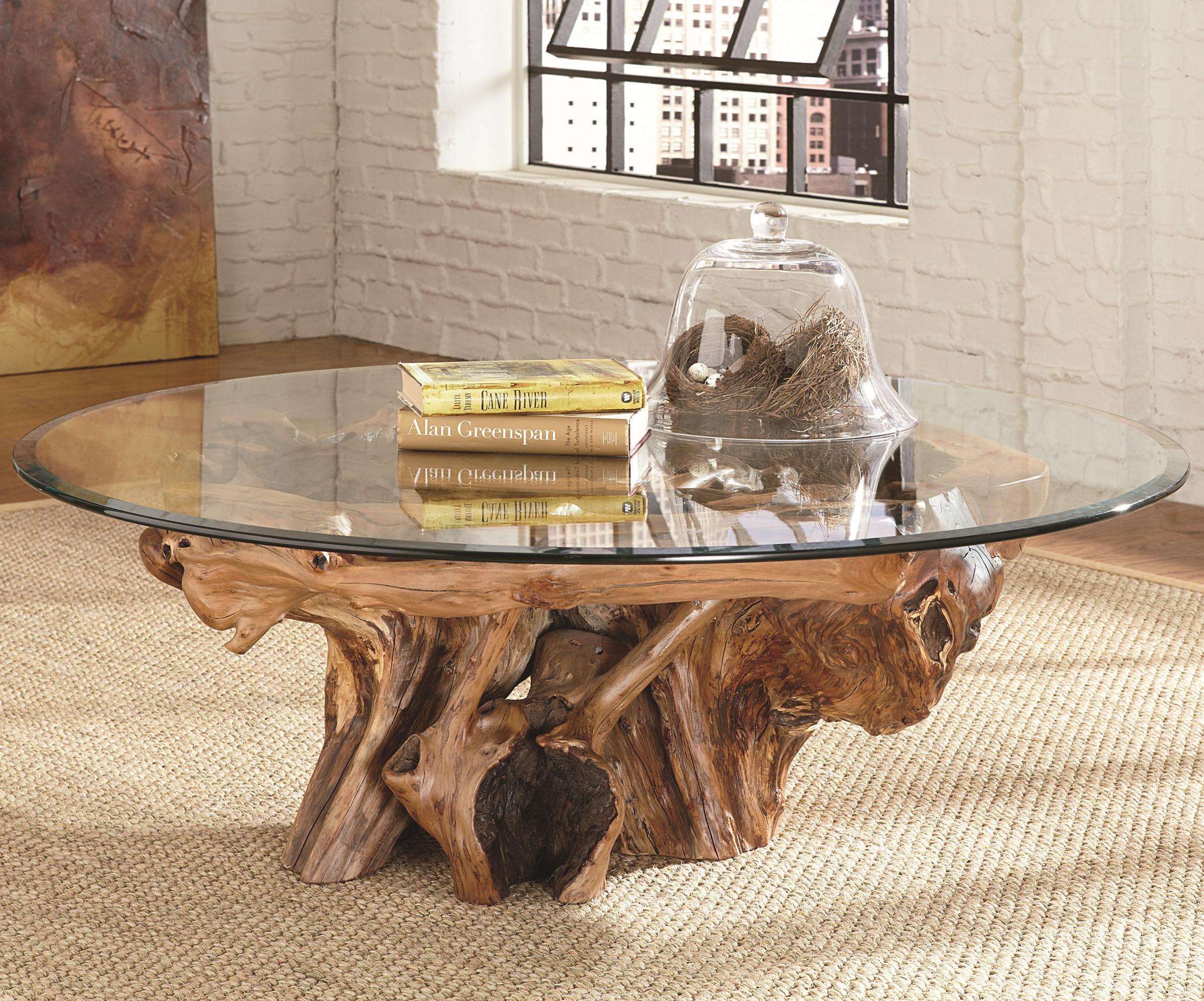 Hammary Hidden Treasures 090 555r Root Ball Cocktail Table