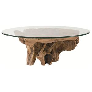 Morris Home Furnishings Hidden Treasures Root Ball Cocktail Table