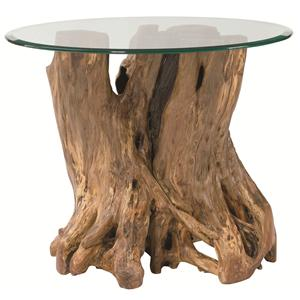 Table Trends Hidden Treasures Driftwood Round Pedestal