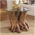 Morris Home Furnishings Hidden Treasures Root Ball End Table