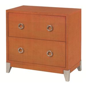 Morris Home Hidden Treasures Orange Accent Chest