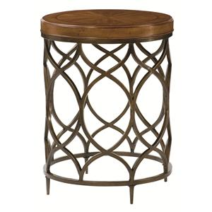 Morris Home Furnishings Hidden Treasures Round Lamp Table