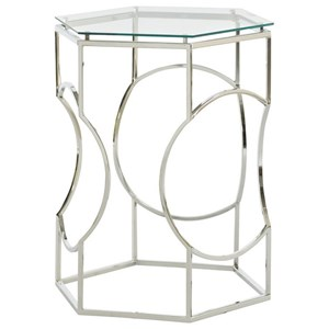 Hammary Hidden Treasures Chrome Hex Wire Table