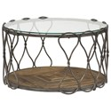 Hammary Hidden Treasures Round Cocktail Table - Item Number: 090-713