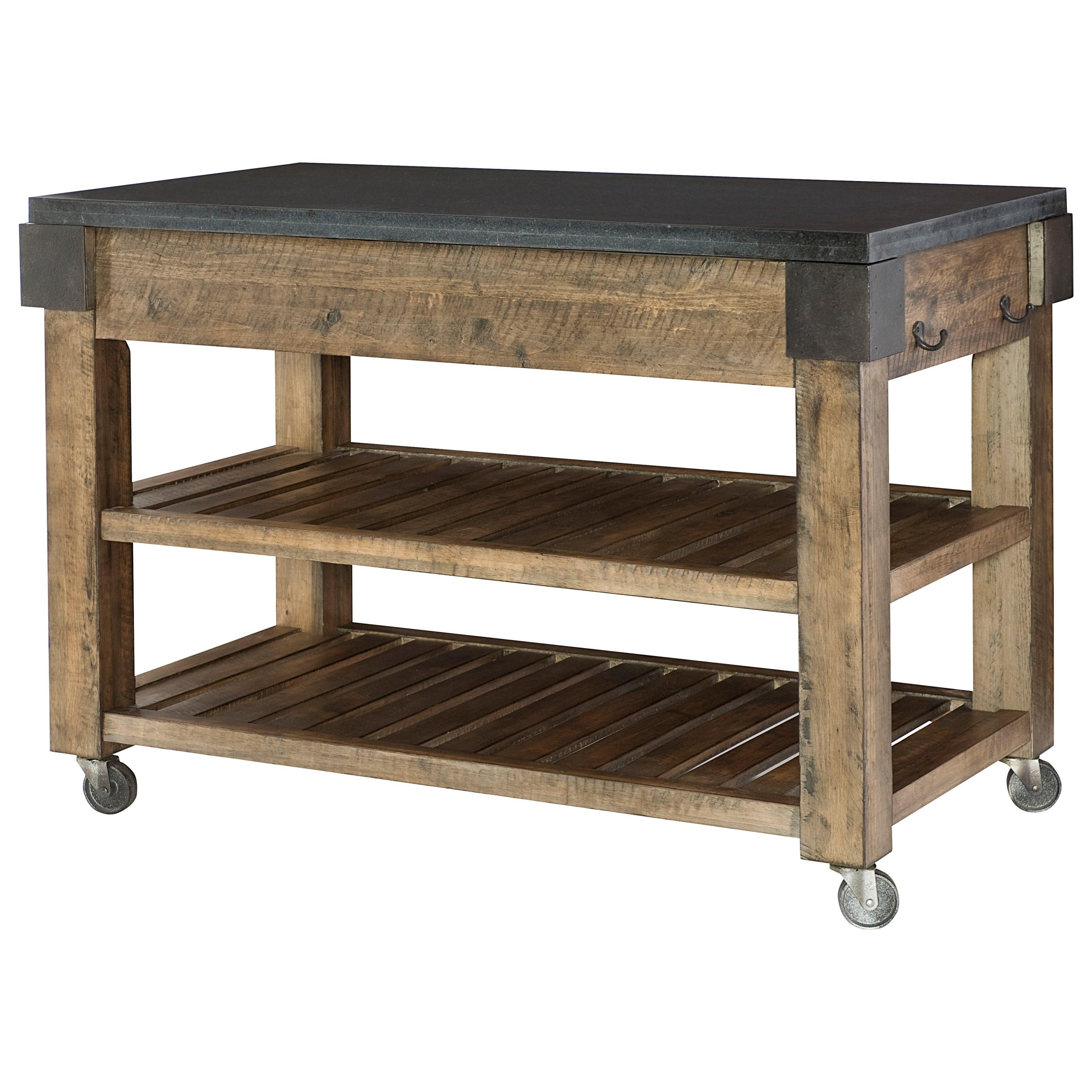 table trends hidden treasures storage kitchen island with