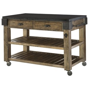 Morris Home Furnishings Hidden Treasures Granite Top Kitchen Island