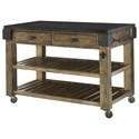 Hammary Hidden Treasures Granite Top Kitchen Island - Item Number: 090-763