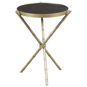 Hammary Hidden Treasures Metal Bamboo Table