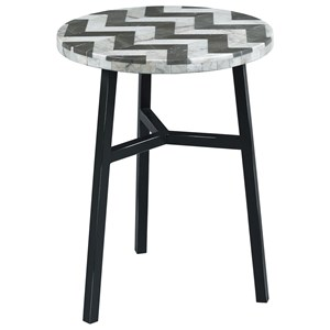 Hammary Hidden Treasures Zig Zag Stone Top Table
