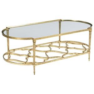 Hammary Hidden Treasures Oval Cocktail Table