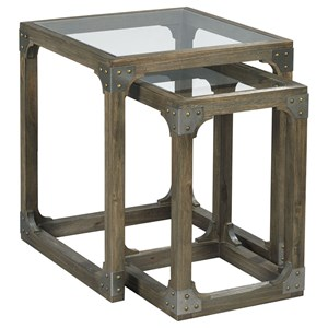 Morris Home Hidden Treasures Rustic Nesting Tables