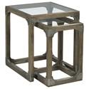 Hammary Hidden Treasures Rustic Nesting Tables                        - Item Number: 090-868