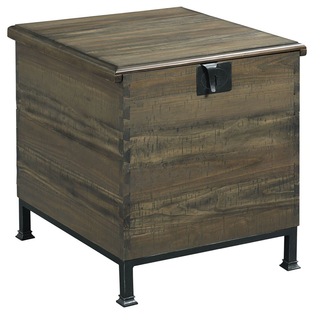 Hidden Treasures Milling Chest End Table                      by Hammary at Stoney Creek Furniture
