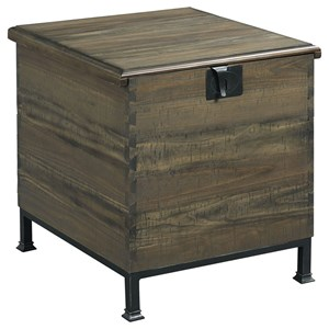 Morris Home Hidden Treasures Milling Chest End Table