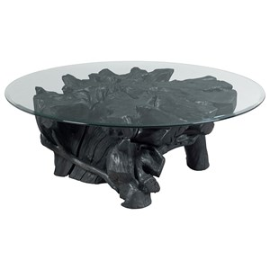 Morris Home Furnishings Hidden Treasures Charred Rootball Cocktail Table