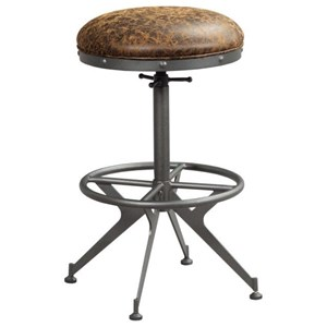 Adjustable Height Barstool with Footrest