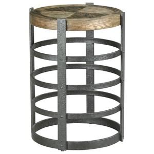 Barrel Strap End Table