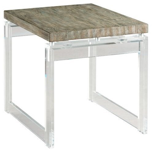 Hidden Treasures Acrylic End Table by Hammary at Stoney Creek Furniture