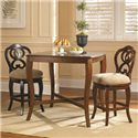 Hammary Hidden Treasures Counter Height Ribbon Back Barstool