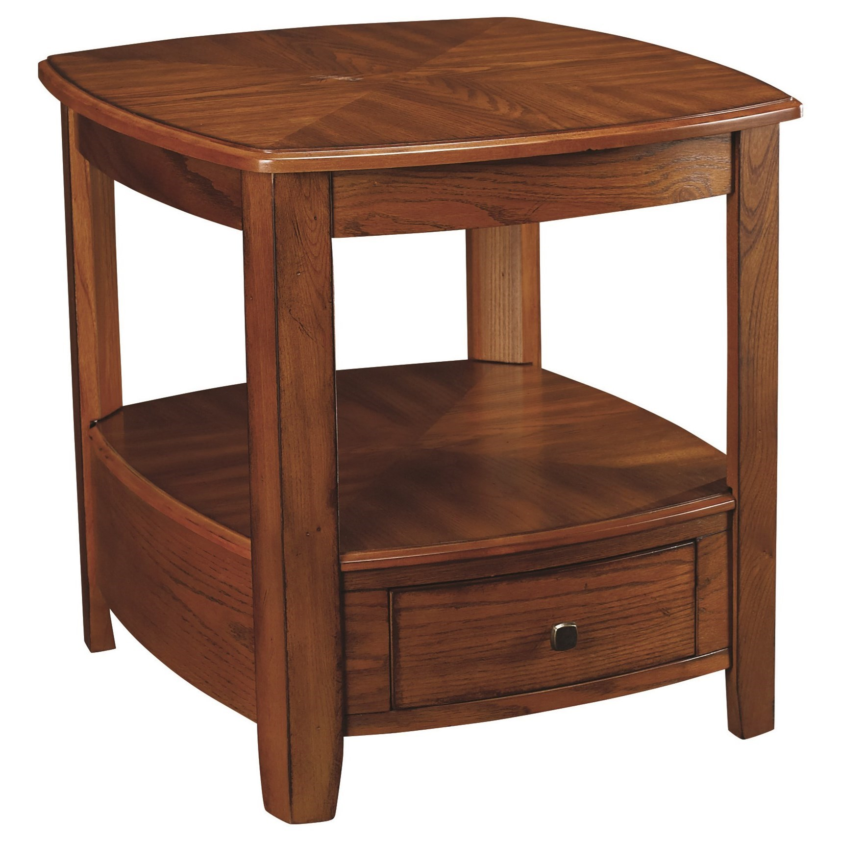 Primo Rectangular Drawer End Table by Hammary at Johnny Janosik