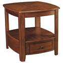 Hammary Primo Transitional Rectangular Drawer End Table