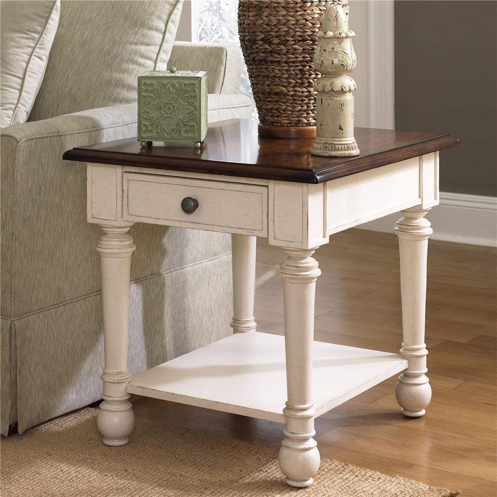 Hammary Promenade Rectangular Drawer End Table - Item Number: T2001821-02