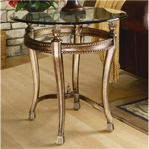 Suffolk Bay End Table with Glass Top by Hammary