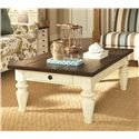 Hammary Heartland Rectangular Cocktail Table with Drawer on Each Side