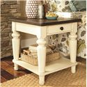 Hammary Heartland Rectangular End Table with 1 Drawer and 1 Lower Shelf