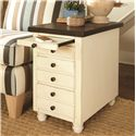Hammary Heartland Chairside Table Chest with 3 Drawers and 1 Pull Out Shelf