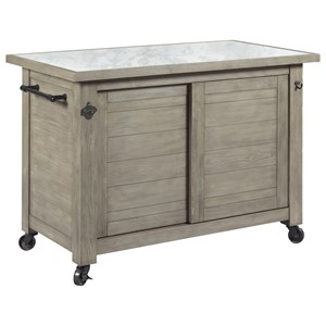 Hammary Junction Shiplap Kitchen Island