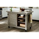 Hammary Junction Shiplap Kitchen Island with Marble Top