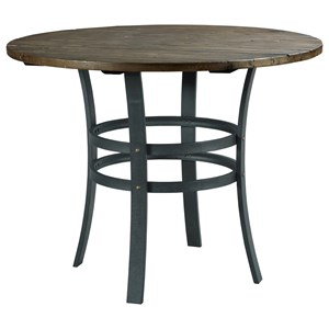 Hammary Junction Brace High Dining Table