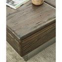 Hammary Junction Block Cocktail Table with Two Drawers